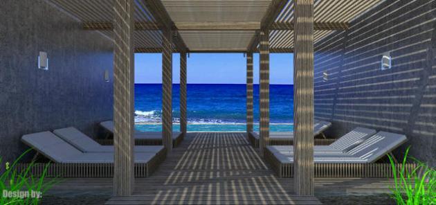 Beach Club 3D Rendering