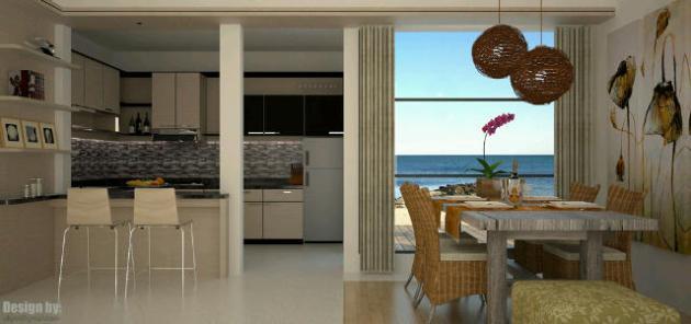 Modern interior design di rumah pinggir pantai